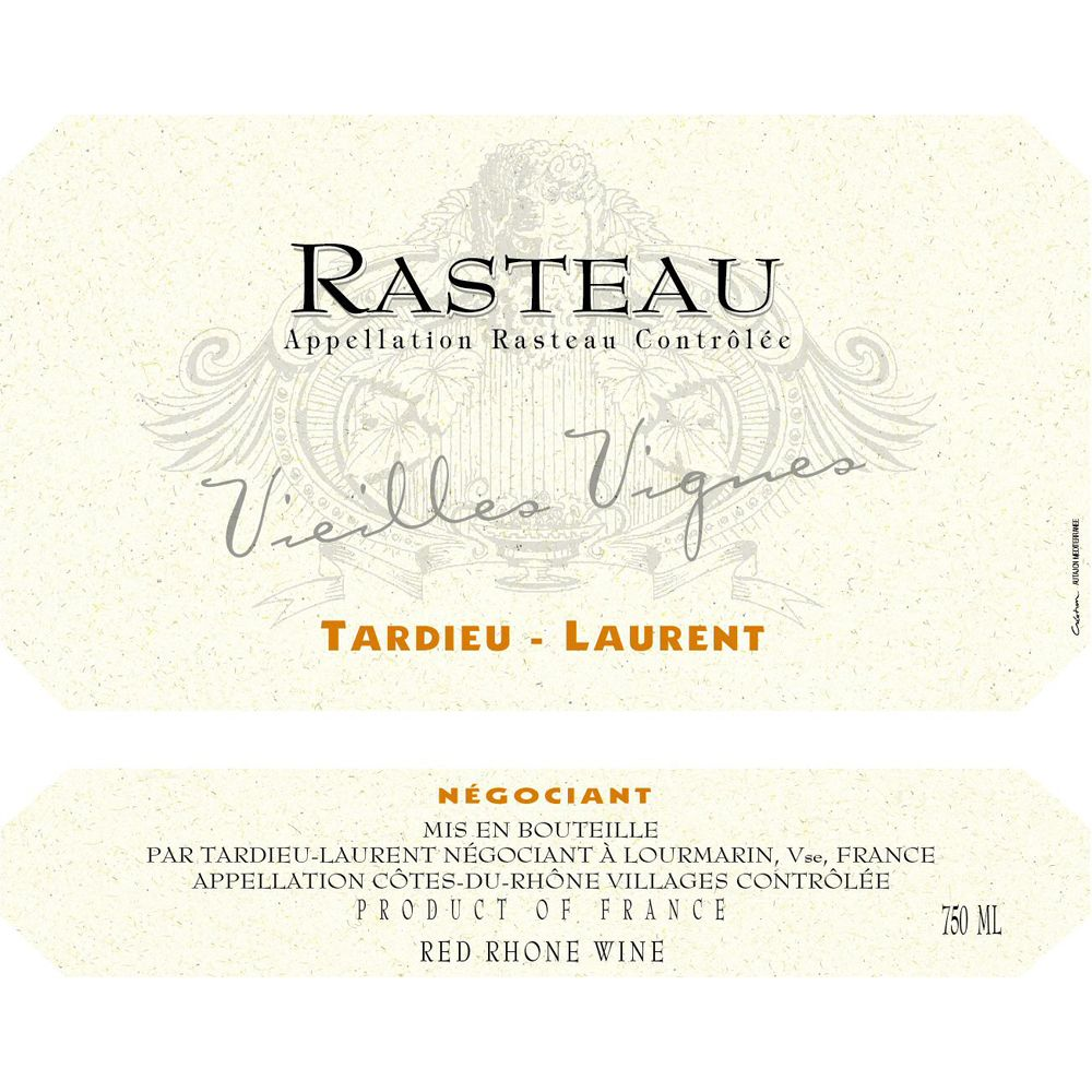 Tardieu-Laurent Rasteau Vieilles Vignes 2011 Front Label