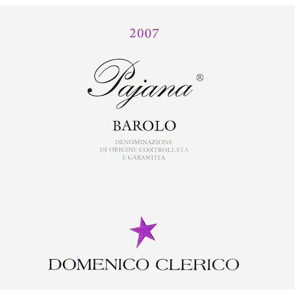 Domenico Clerico Barolo Pajana 2007 Front Label