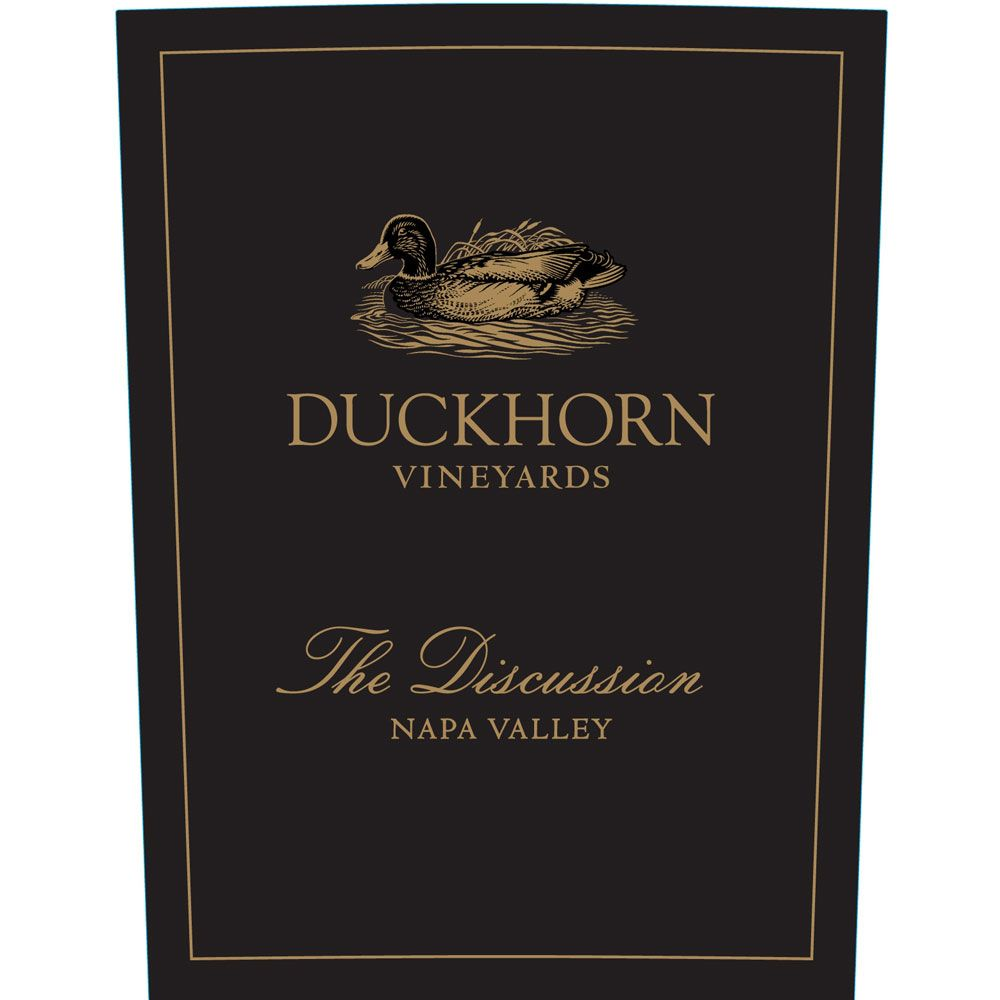 Duckhorn The Discussion 2010 Front Label