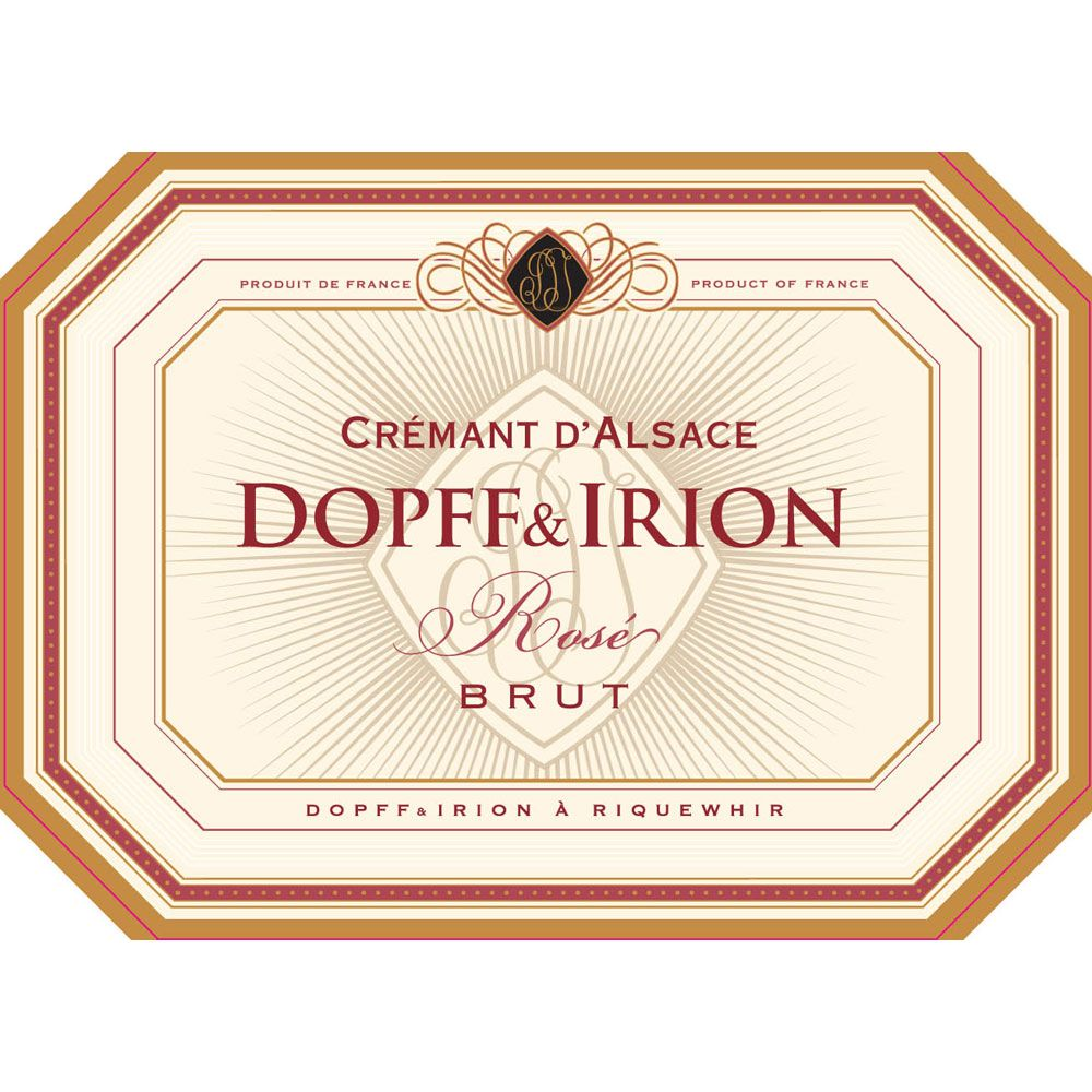 Dopff & Irion Cremant Rose Brut Front Label