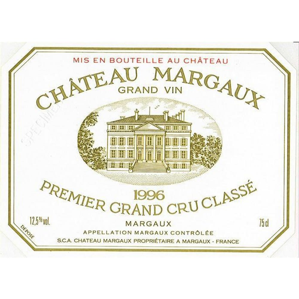 Chateau Margaux  1996 Front Label