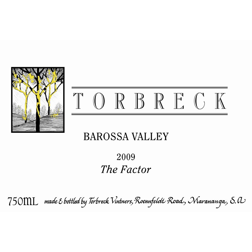 Torbreck The Factor Shiraz 2009 Front Label