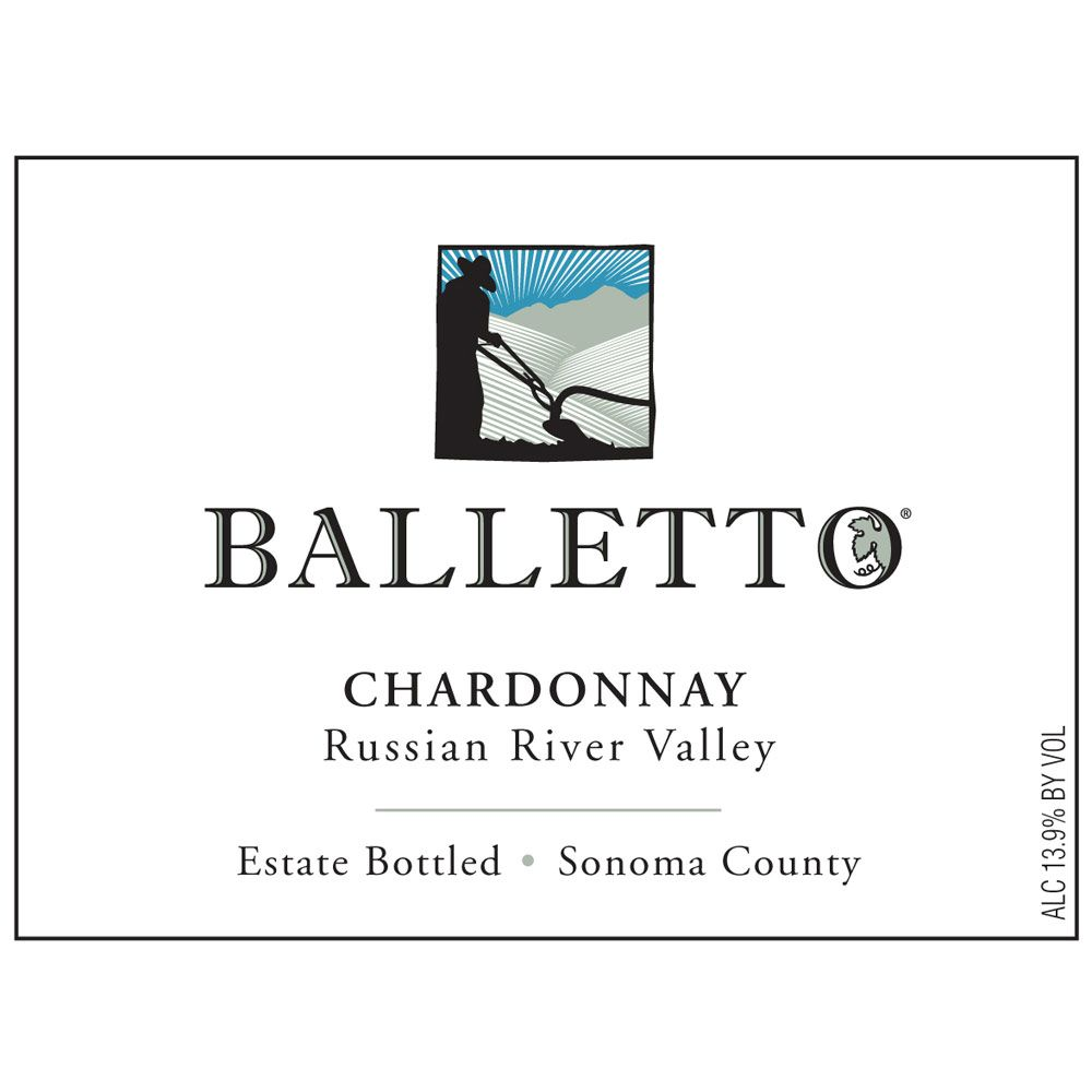 Balletto Winery Chardonnay 2012 Front Label