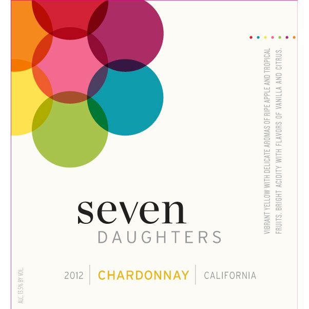 Seven Daughters Chardonnay 2012 Front Label