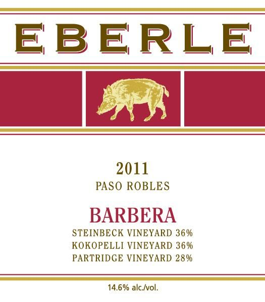 Eberle Barbera 2011 Front Label