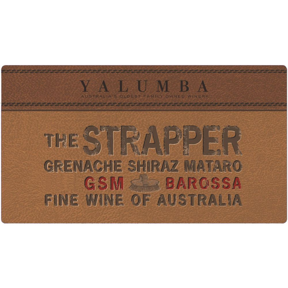 Yalumba The Strapper GSM Barossa 2012 Front Label