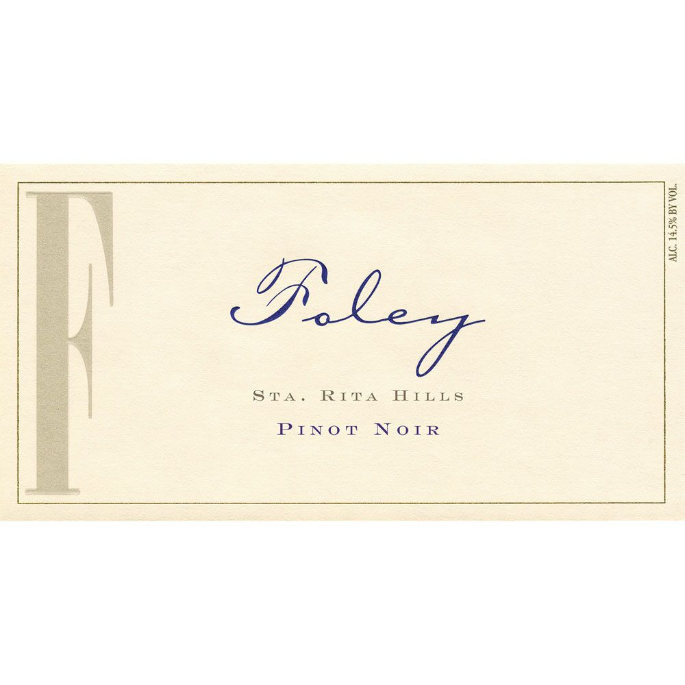 Foley Estate Winery Sta. Rita Hills Pinot Noir 2011 Front Label
