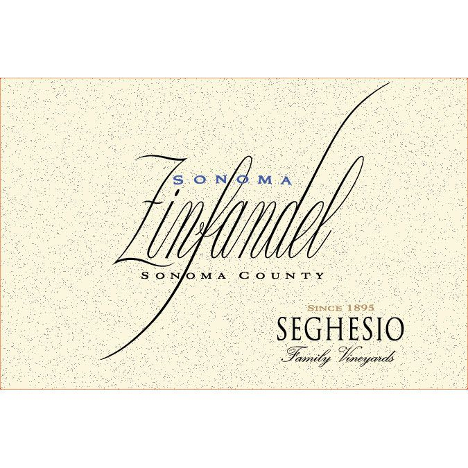 Seghesio Sonoma Zinfandel (375ML half-bottle) 2012 Front Label
