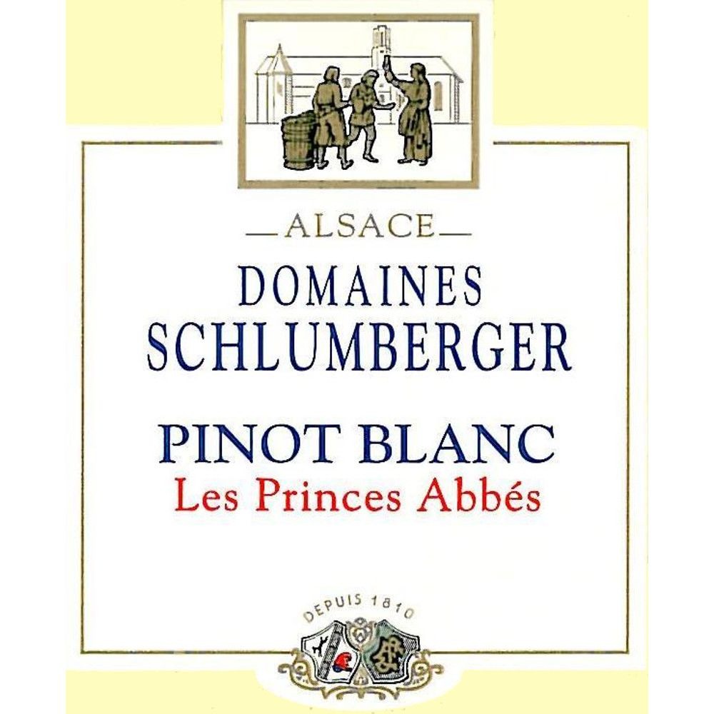 Domaines Schlumberger Les Princes Abbes Pinot Blanc 2012 Front Label