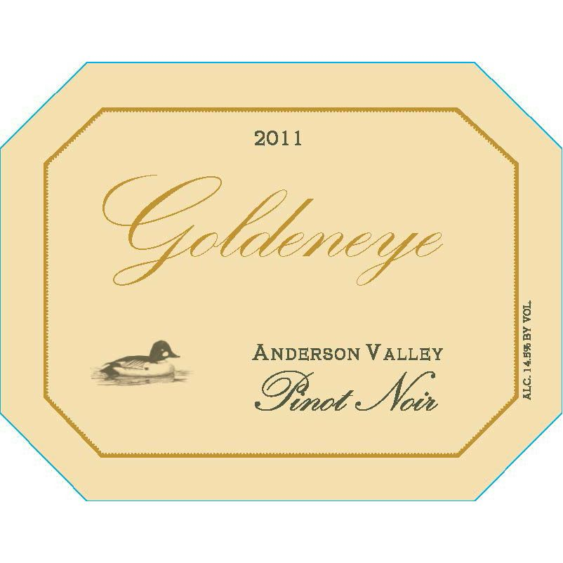 Goldeneye Anderson Valley Pinot Noir 2011 Front Label