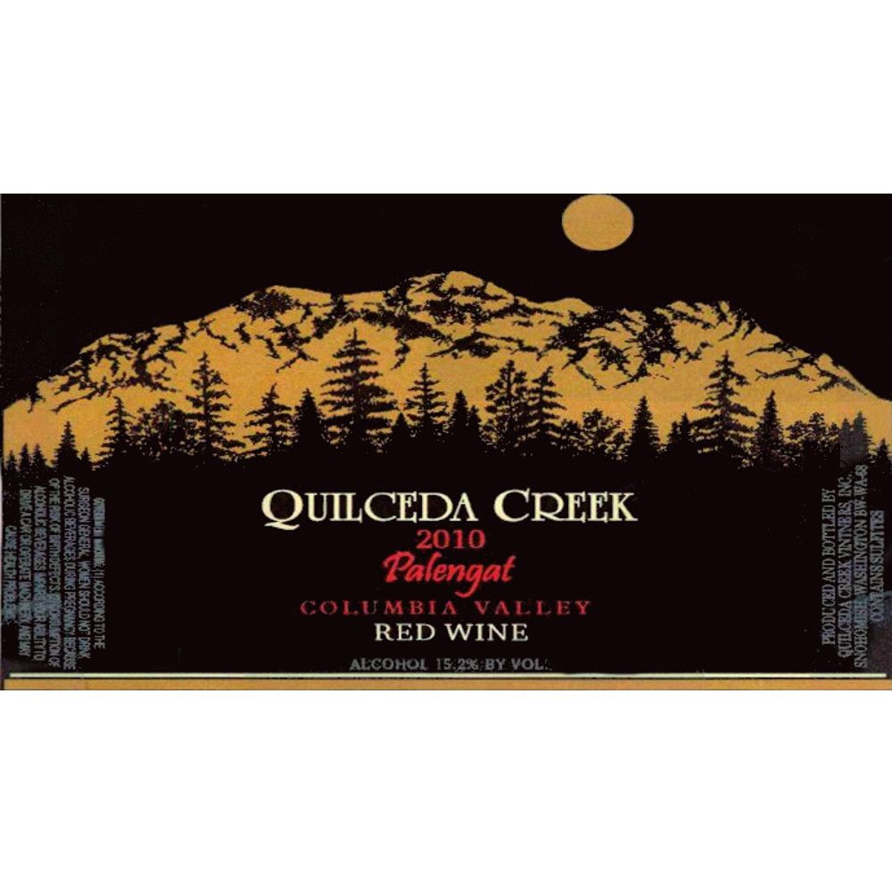 Quilceda Creek Palengat Proprietary Red Blend 2010 Front Label