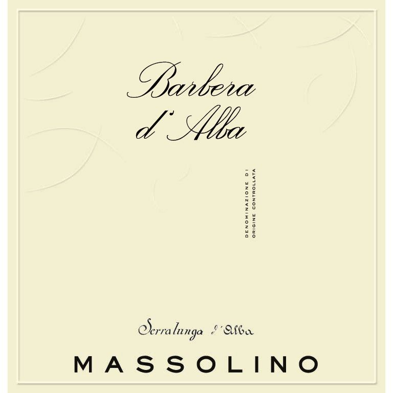 Massolino Barbera d'Alba 2012 Front Label