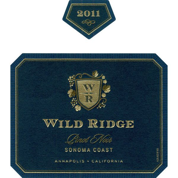 Wild Ridge Pinot Noir 2011 Front Label