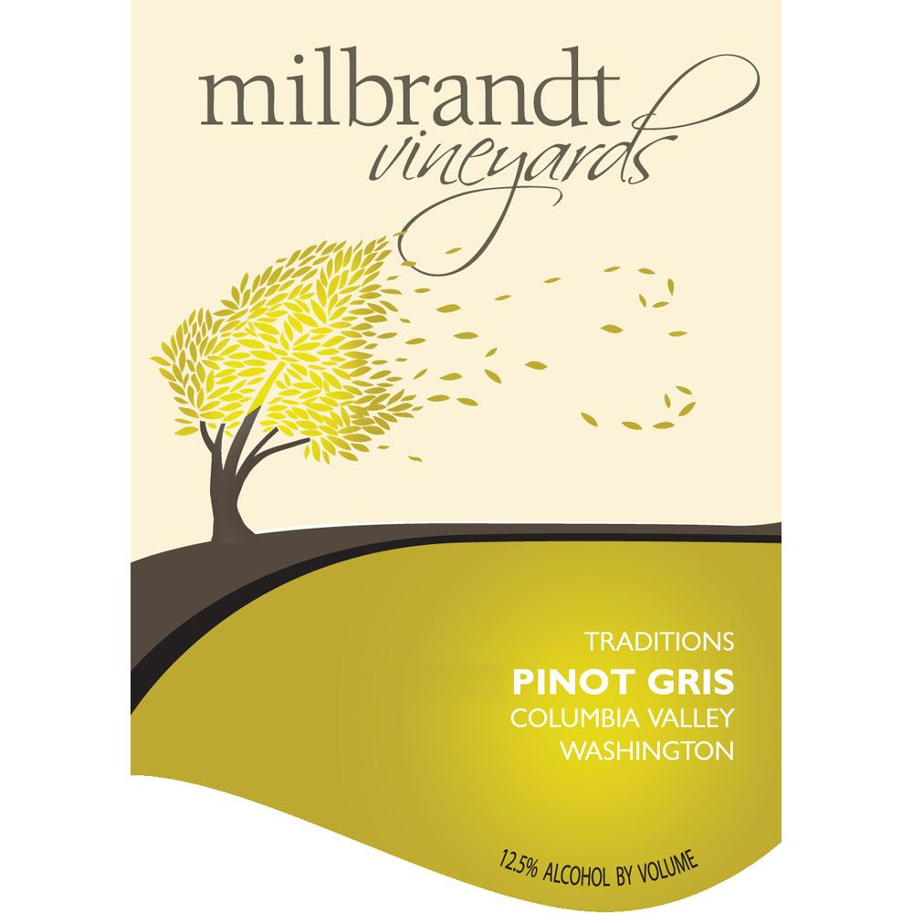 Milbrandt Traditions Pinot Gris 2013 Front Label