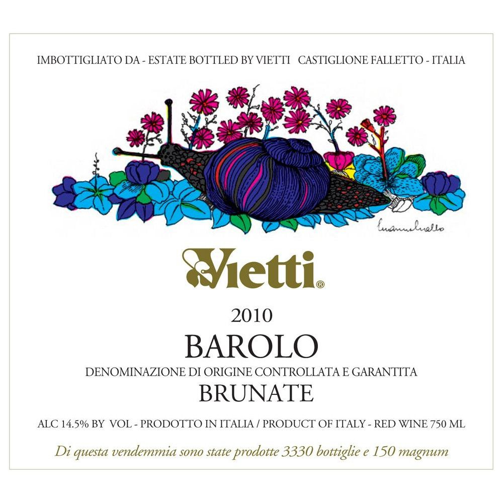 Vietti Barolo Brunate 2010 Front Label