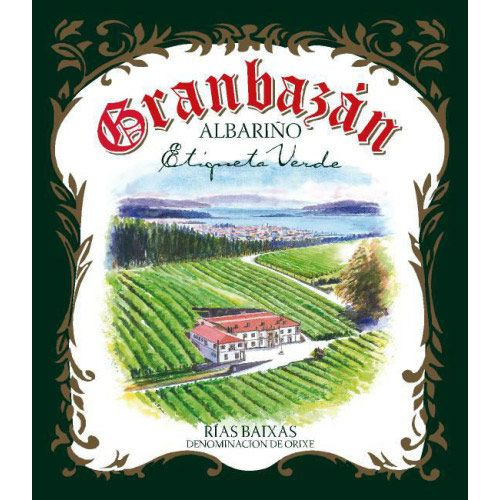 Granbazan Etiqueta Verde Albarino (375ML half-bottle) 2012 Front Label