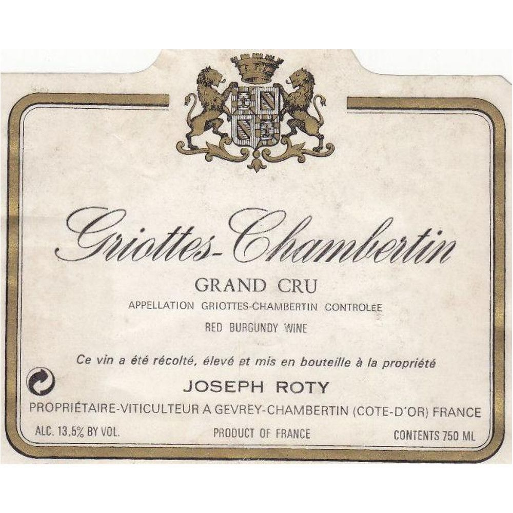 Domaine Joseph Roty Griottes-Chambertin Grand Cru 2011 Front Label