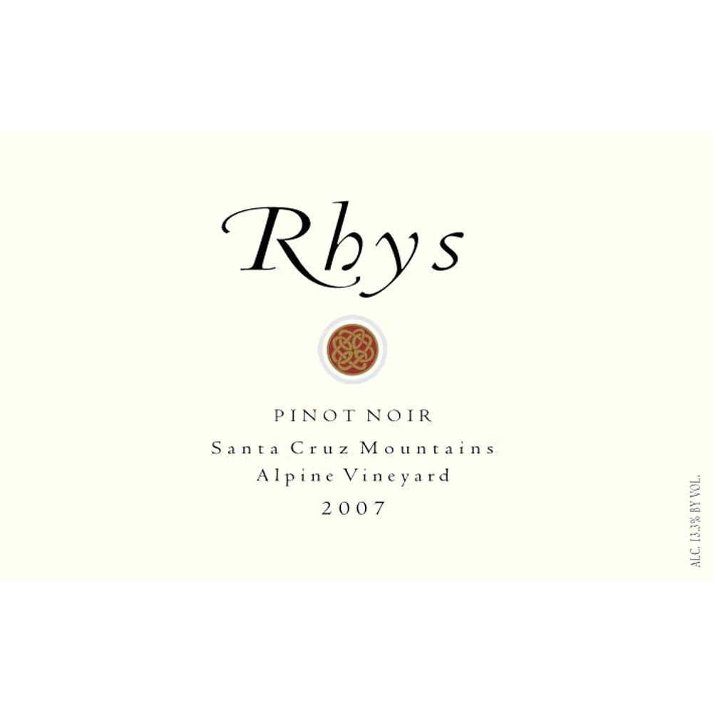 Rhys Vineyards Alpine Vineyard Pinot Noir 2007 Front Label