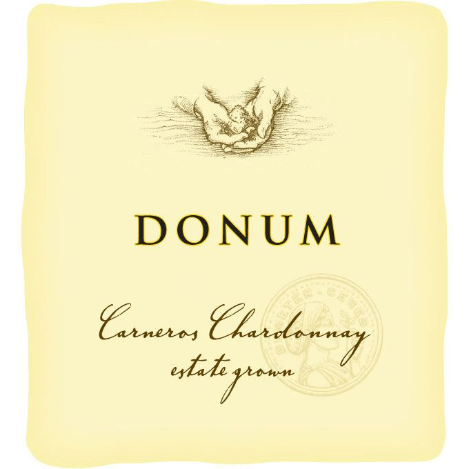 The Donum Estate Carneros Chardonnay 2012 Front Label