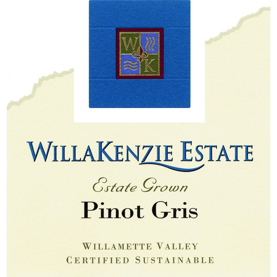 WillaKenzie Estate Pinot Gris (375ML half-bottle) 2012 Front Label