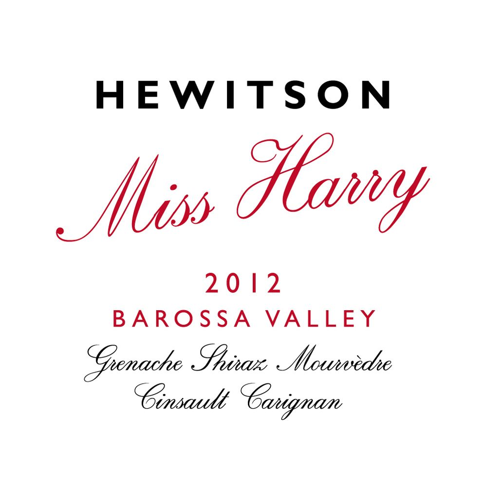 Hewitson Miss Harry G.S.M. 2012 Front Label