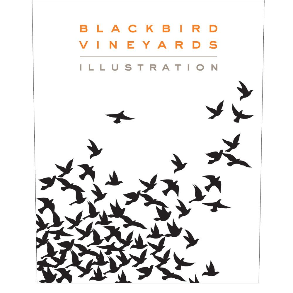 Blackbird Vineyards Illustration Proprietary Red 2011 Front Label