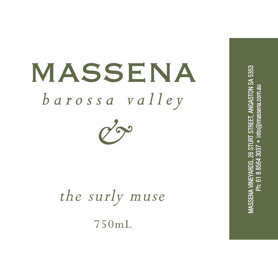 Massena The Surly Muse Viognier 2012 Front Label