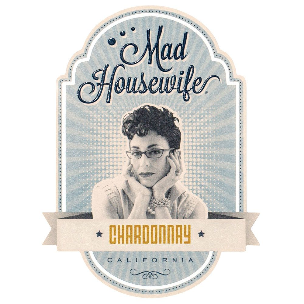 Mad Housewife Cellars Chardonnay Front Label