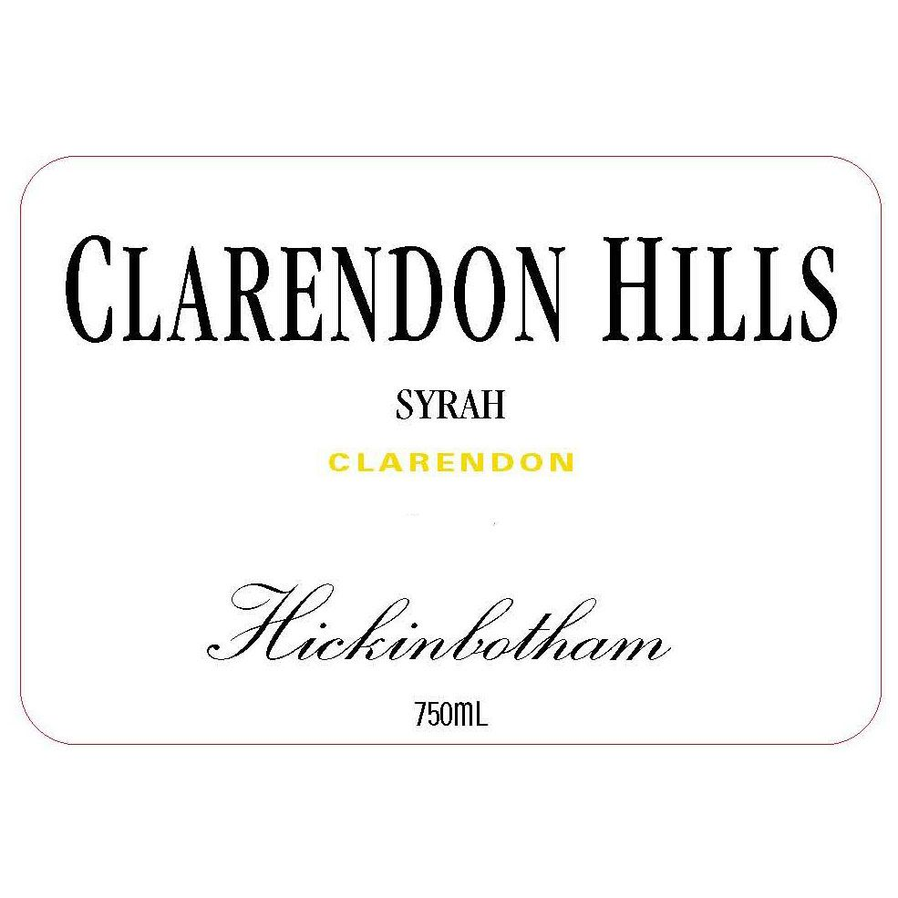 Clarendon Hills Hickinbotham Syrah 2008 Front Label
