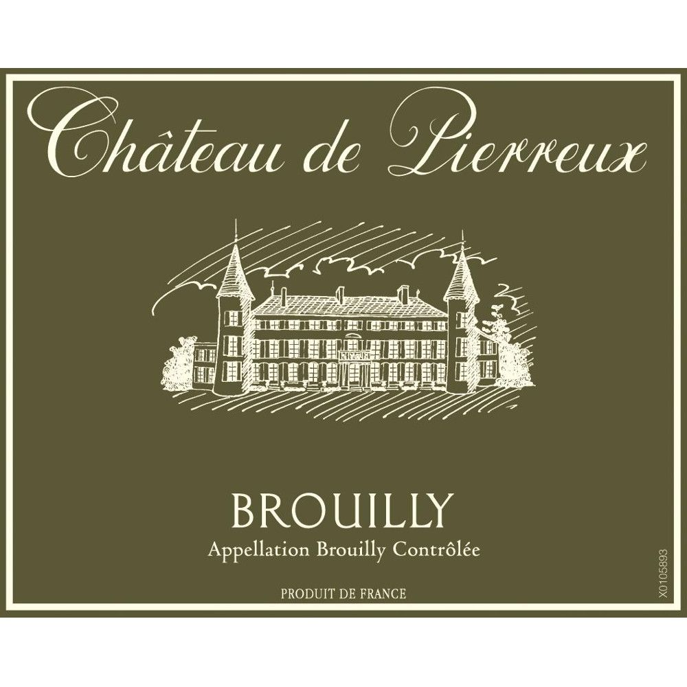 Chateau de Pierreux Brouilly 2012 Front Label