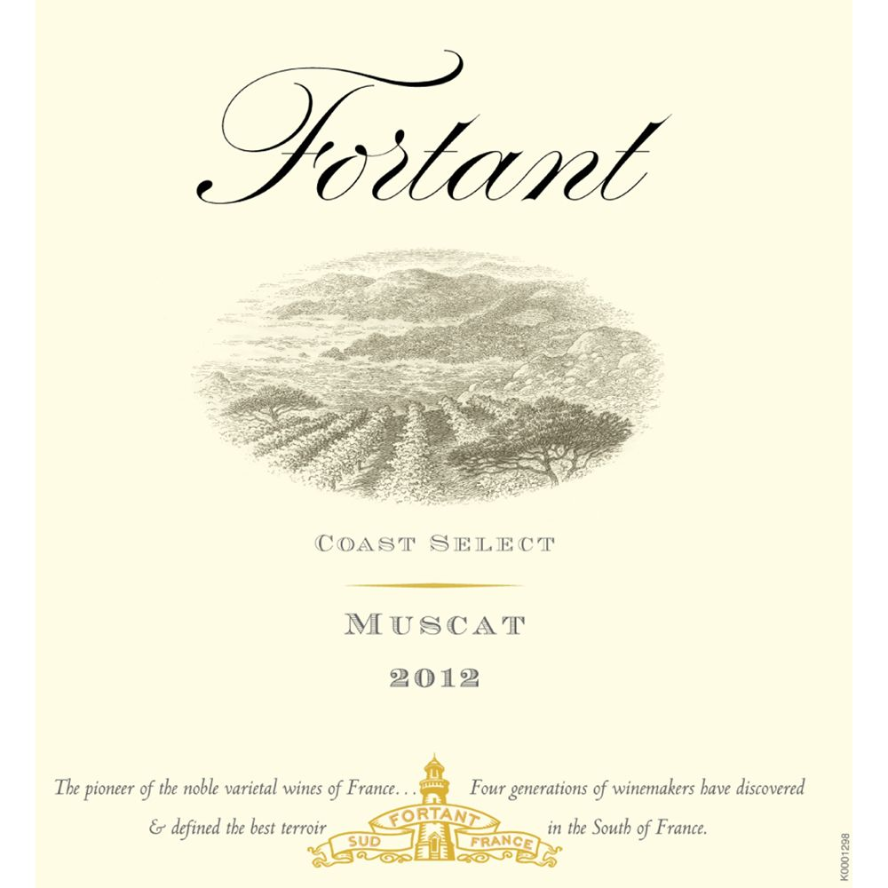 Fortant Coast Select Muscat 2012 Front Label