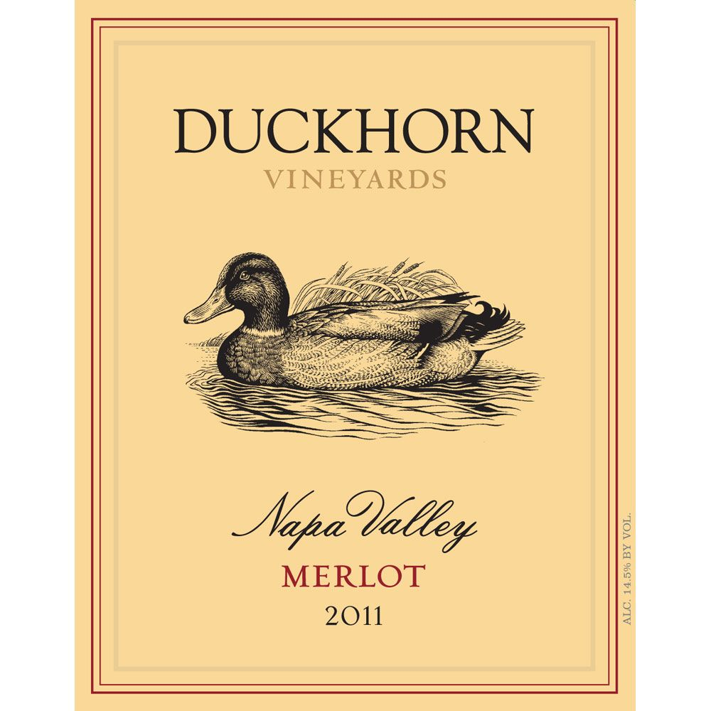 Duckhorn Napa Valley Merlot (375ML half-bottle) 2011 Front Label