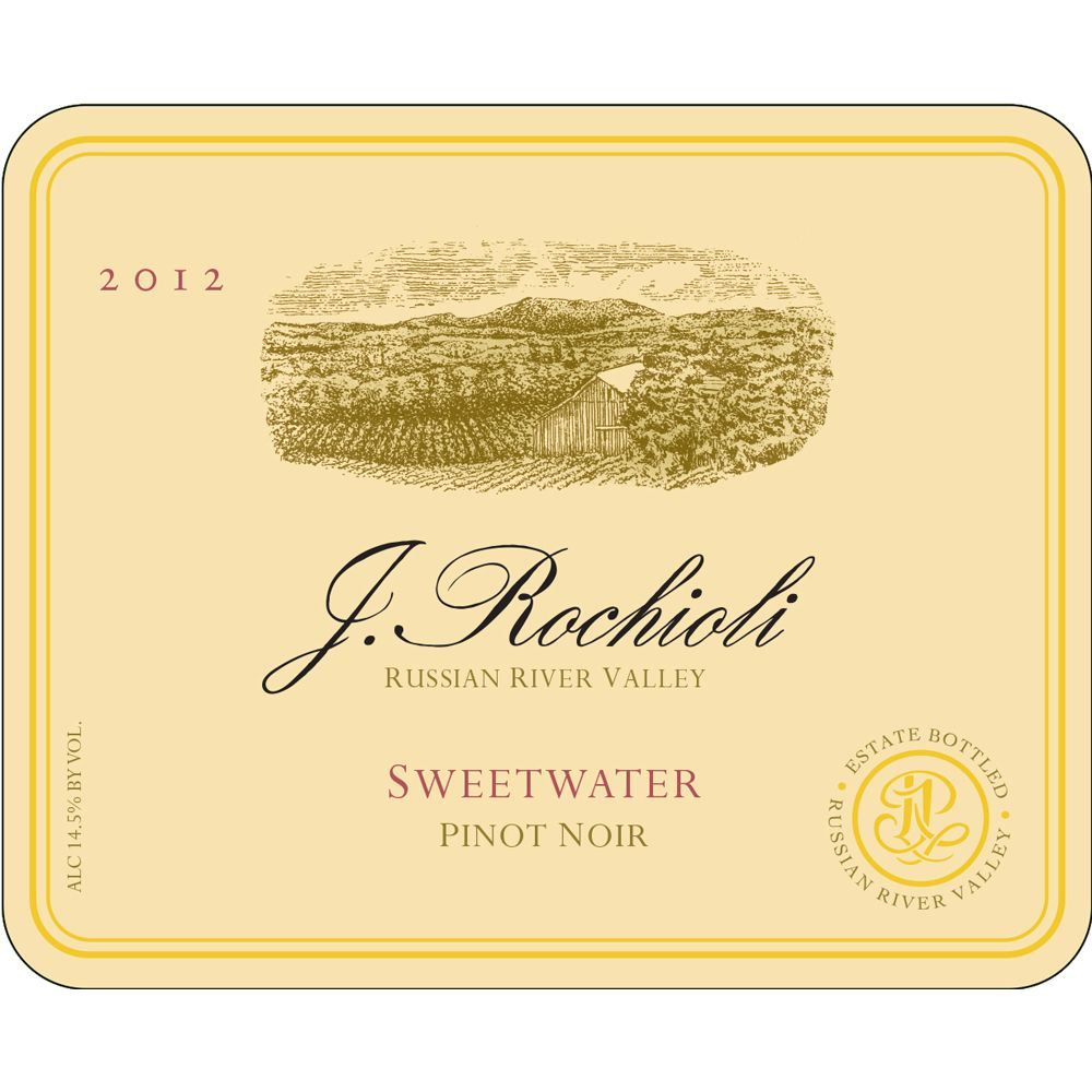 Rochioli Sweetwater Vineyard Chardonnay 2012 Front Label