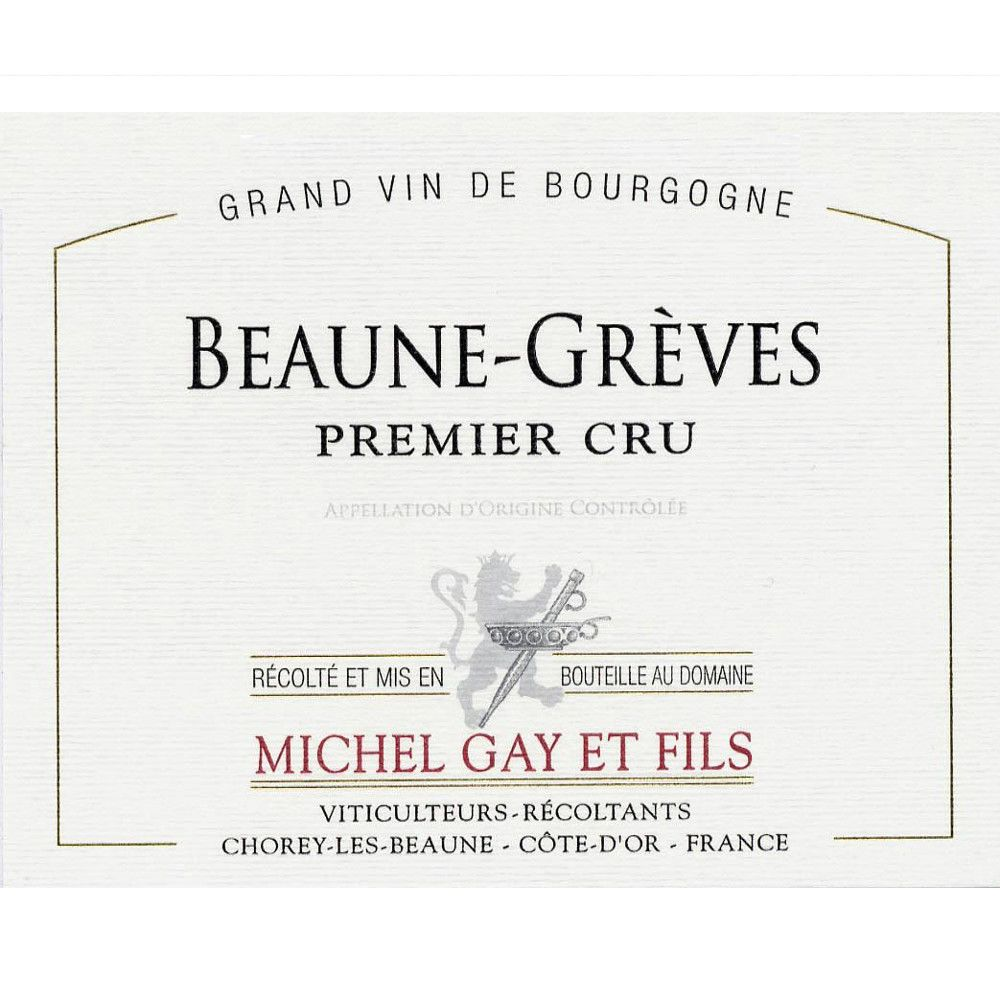 Michel Gay & Fils Beaune-Greves Premier Cru 2010 Front Label