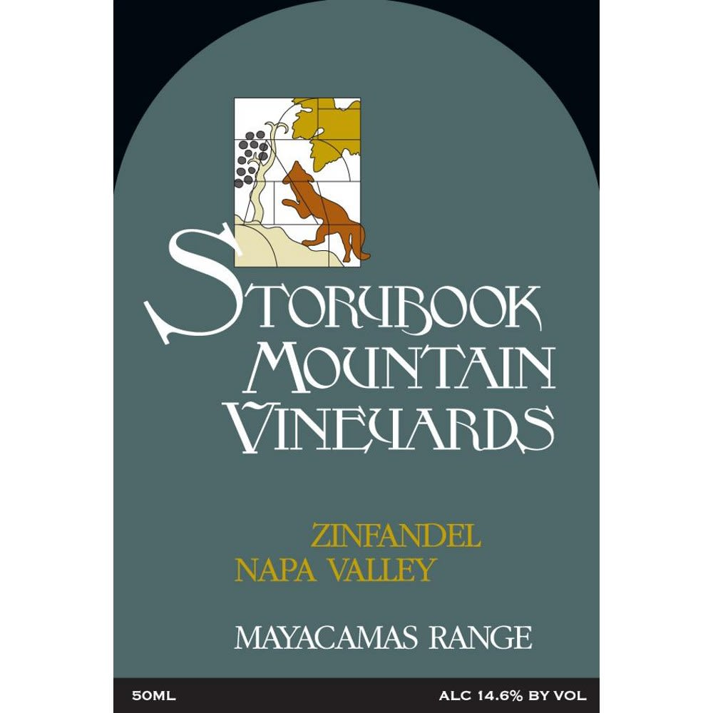 Storybook Mountain Mayacamas Range Zinfandel (375ML half-bottle) 2011 Front Label