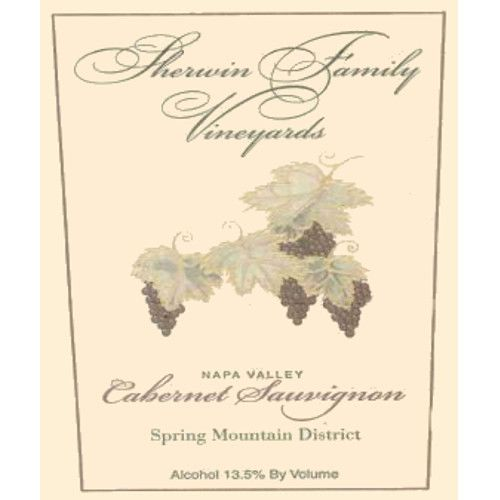 Sherwin Family Vineyards Spring Mountain District Cabernet Sauvignon 2001 Front Label