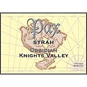 Pax Obsidian Syrah 2003 Front Label