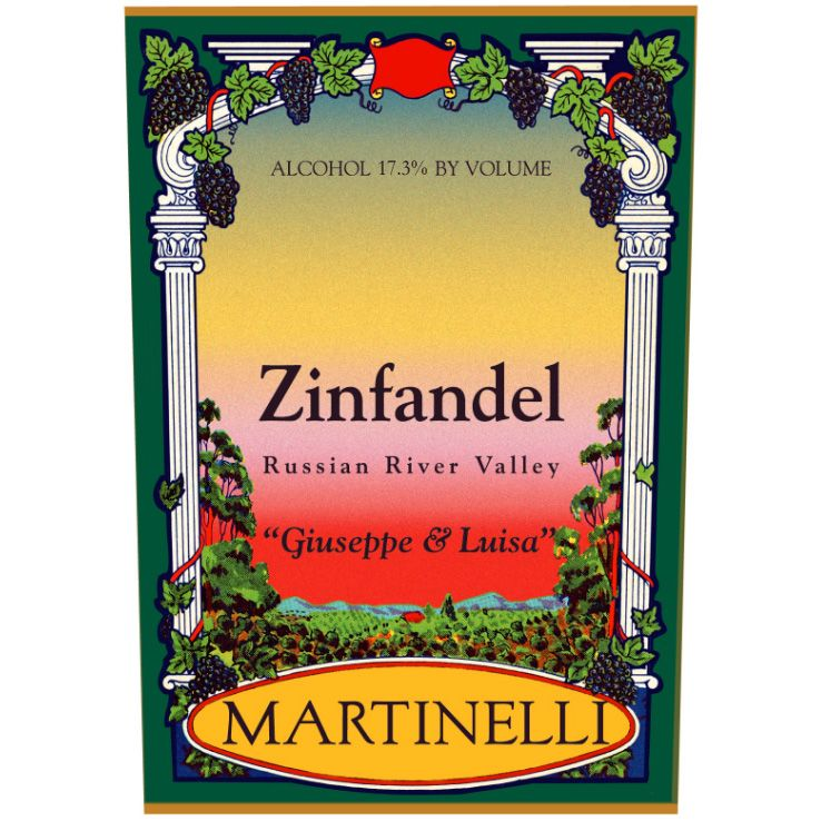 Martinelli Giuseppe and Luisa Zinfandel 2005 Front Label