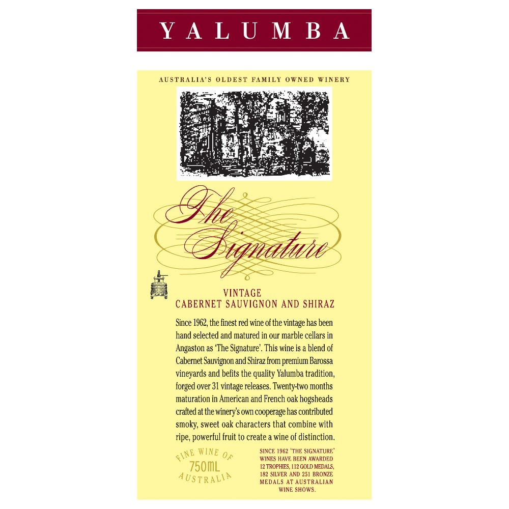 Yalumba The Signature Cabernet/Shiraz 2009 Front Label