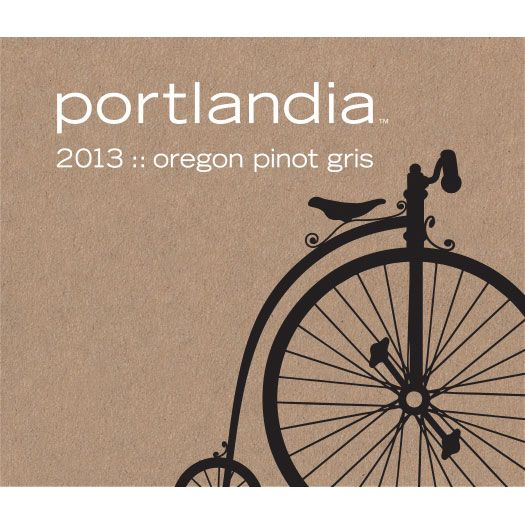 Portlandia Winery Pinot Gris 2013 Front Label