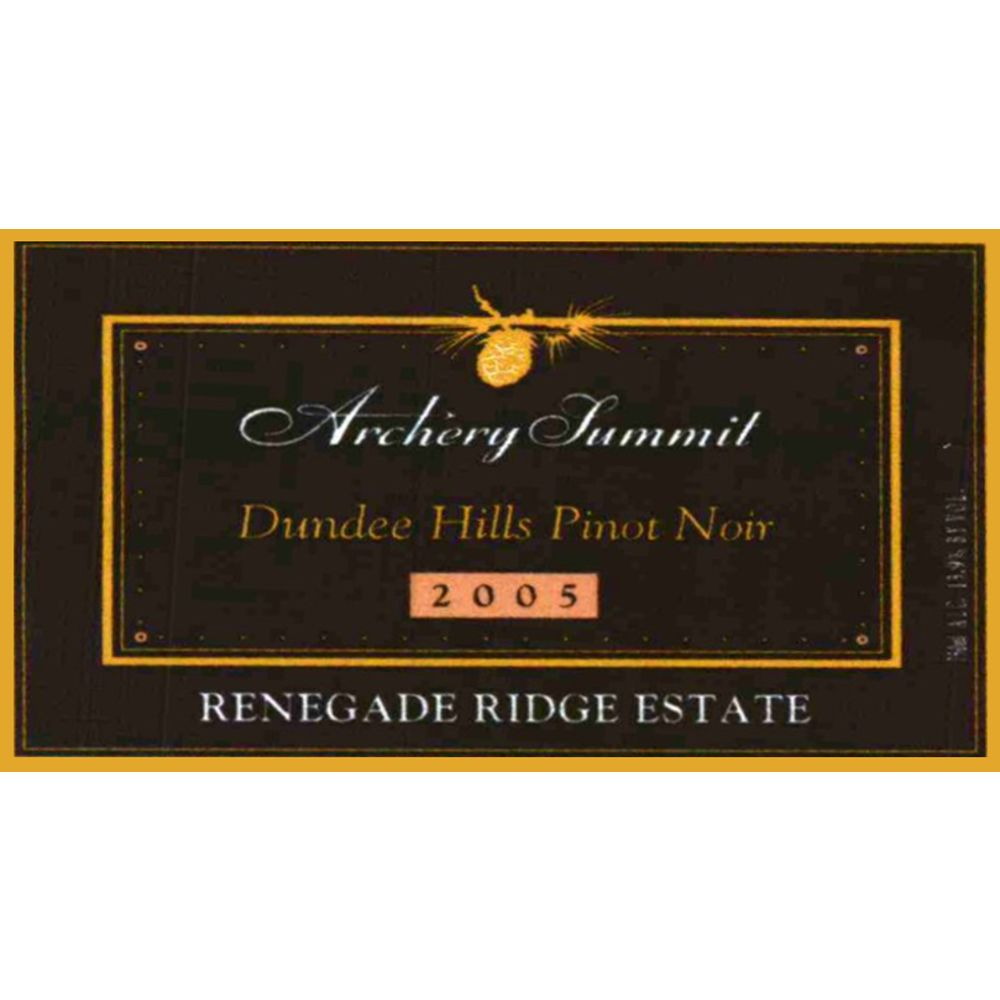 Archery Summit Renegade Ridge Estate Pinot Noir 2005 Front Label
