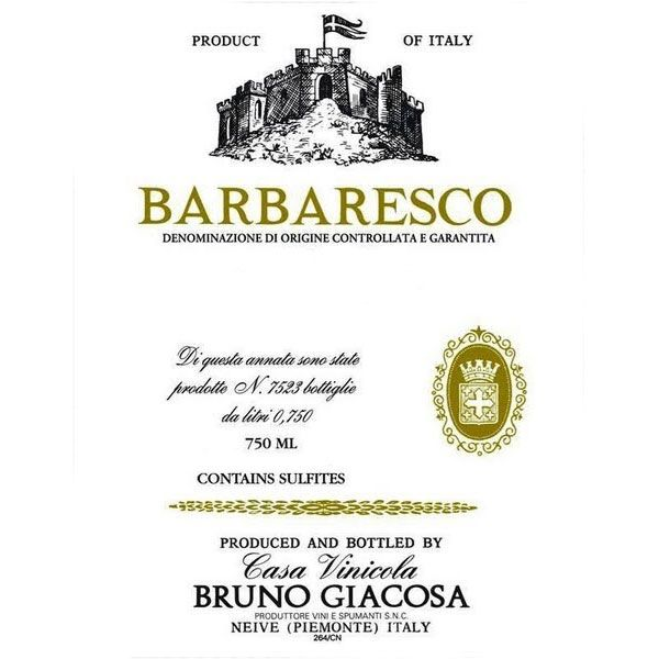 Bruno Giacosa Barbaresco 1999 Front Label