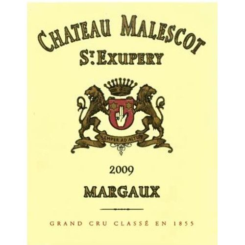 Chateau Malescot St. Exupery (1.5 Liter Magnum) 2009 Front Label