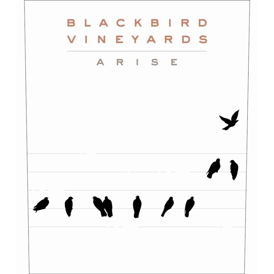 Blackbird Vineyards Arise Napa Valley Proprietary Red 2012 Front Label