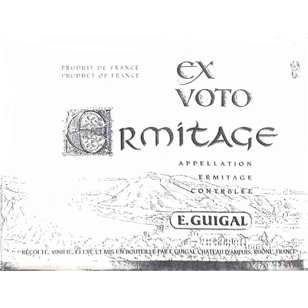 Guigal Ermitage Ex Voto Rouge 2010 Front Label