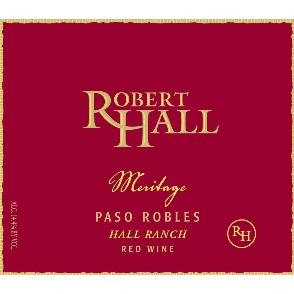 Robert Hall Meritage Red Blend 2012 Front Label
