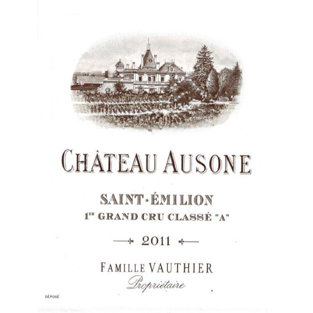 Chateau Ausone  2011 Front Label