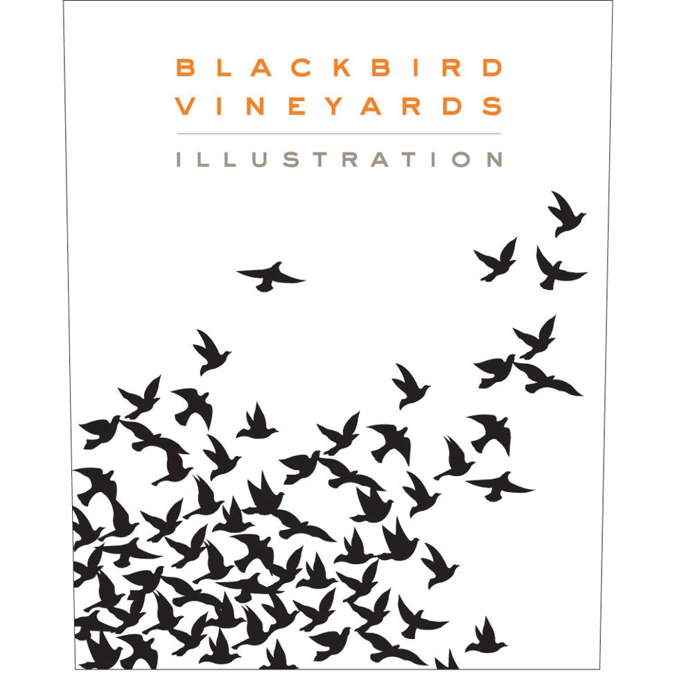 Blackbird Vineyards Illustration Proprietary Red 2010 Front Label