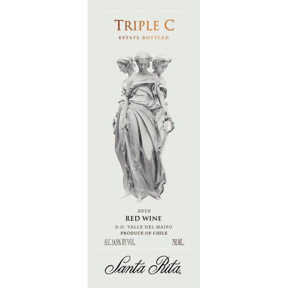 Santa Rita Triple C 2010 Front Label