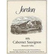 Jordan Cabernet Sauvignon (signs of past seepage) 1976 Front Label
